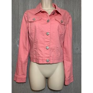 Nine West Coral Denim Cotton Jacket S